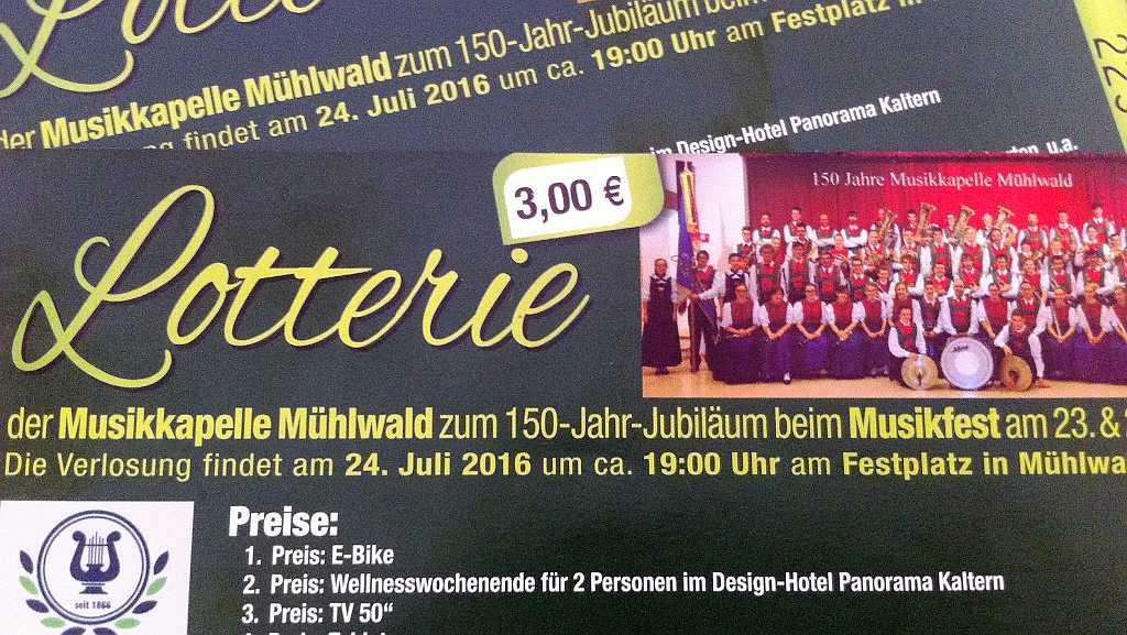Verlosung MK Mühlwald