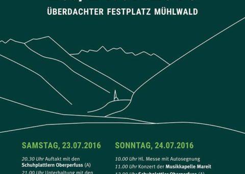 Festschrift Jubiläumsfest 150 Jahre Musikkapelle Mühlwald 23.Juli 2016