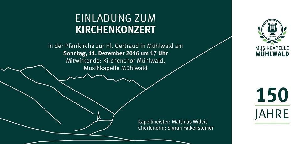 Kirchenkonzert Musikkapelle Mühlwald - Kirchenchor Mühlwald